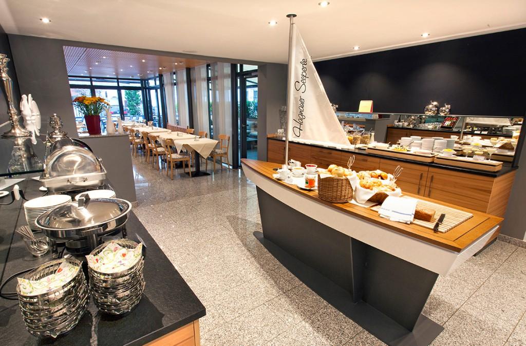 Frühstücksbuffet im Hotel Hagnauer Seeperle.