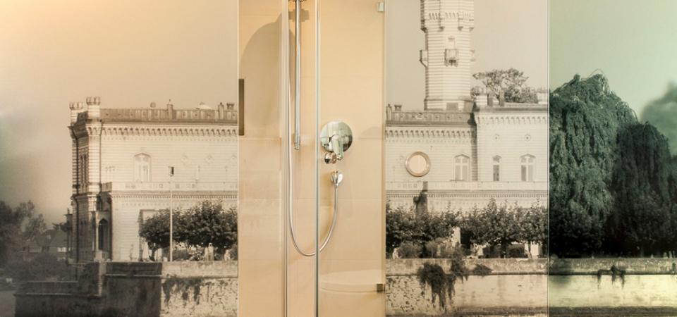 """Badezimmer im Zimmer """"Seeschloss"""""""